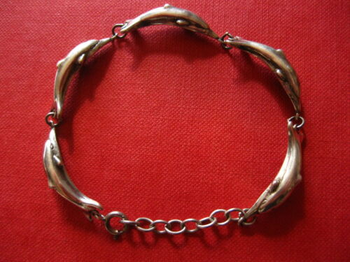 STERLING SILVER DOLPHIN/ PORPOISE BRACELET~5 BEAUTIFUL ANIMALS~STUNNING CREATION