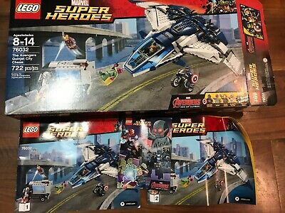 LEGO 76032 Marvel Avengers Quinjet City Chase 100% Complete NO RESERVE