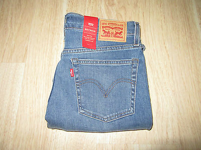 Womens Levi's Cuffed Boyfriend Relaxed Mid Rise Denim Blue Jeans Pants Size 27