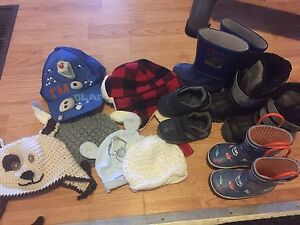 Boys boots and hats