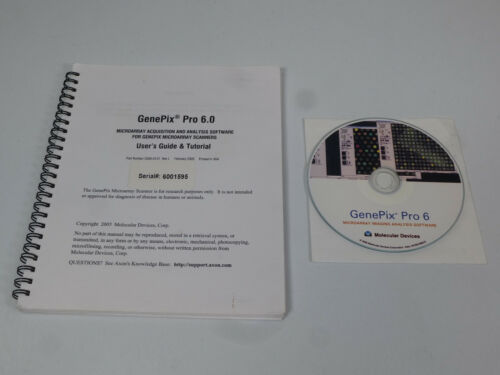 Axon / GenePix Pro 6.0 Microarray Scanner Imaging Analysis Software & User Guide