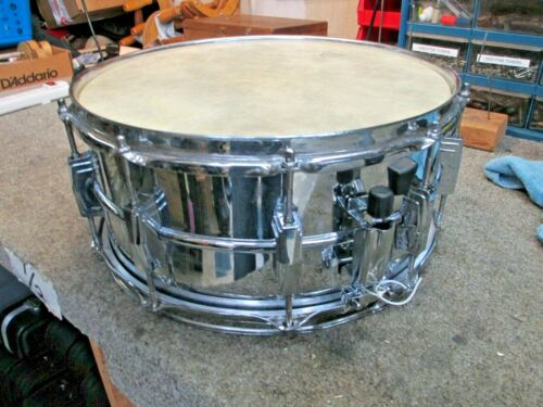 "Ludwig Supraphonic 14"" x 6.5"" Snare Drum, Keystone Badge, 10 Lug, New Strainer!"