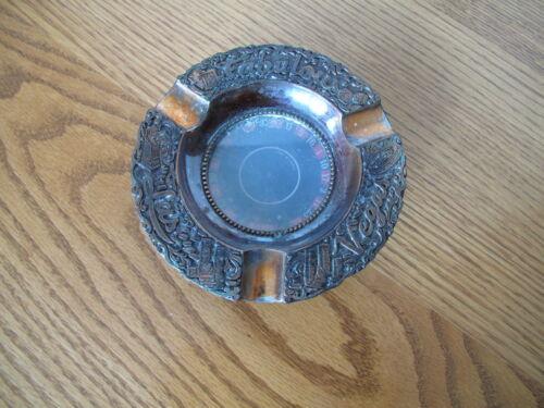 Vintage Las Vegas Metal Spinning Roulette Wheel Ashtray