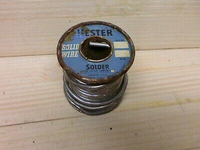 Vintage Kester Solder Wire On Spool 0.125 Dia Almost 1 Pound Just Under Dl15