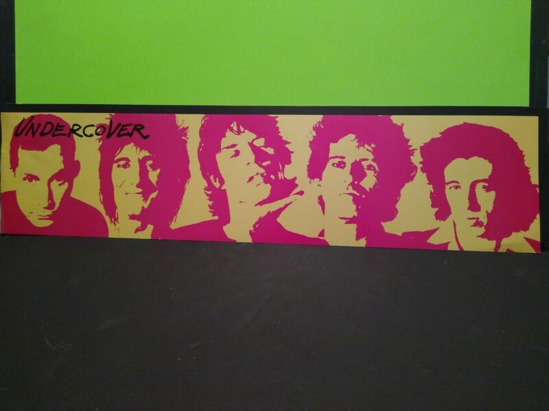 Rolling Stones 1983 Undercover Promo Poster Banner RARE