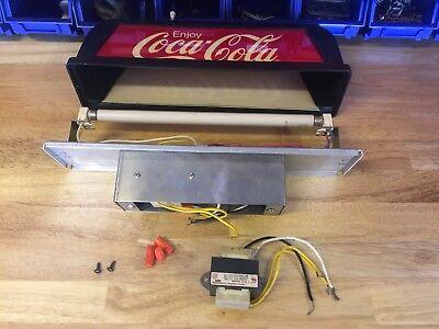 Vintage Coca Cola Fountain Machine Soda Pop Coke Topper Lighted Sign