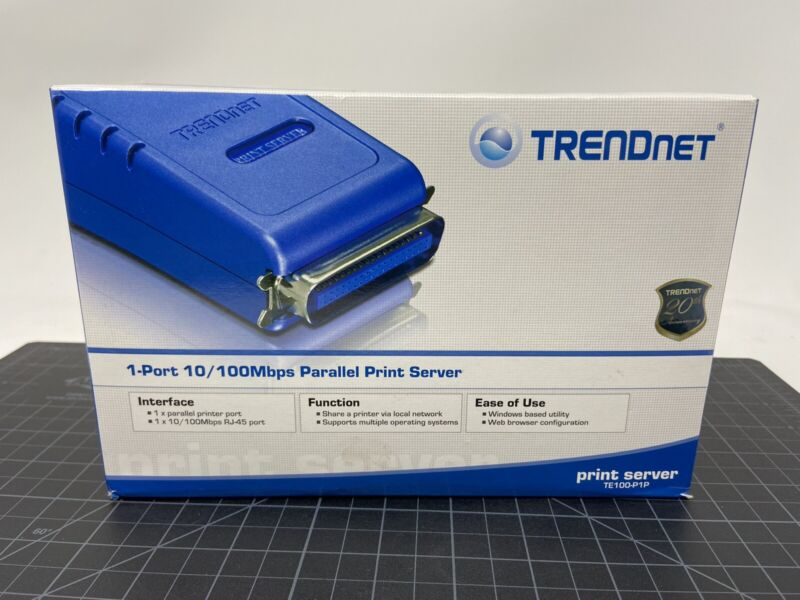 TRENDnet 1-Port 10/100Mbps Parallel Print Server TE100-P1P *Missing Power*