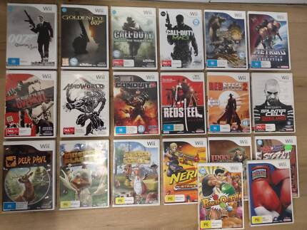 Various gun and battle games for the Nintendo Wii game console Hawthorn East Boroondara Area Preview