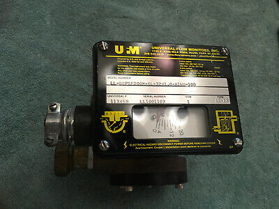 Universal Flow Meter Monitors Monitor 0-20 Gpm Good Used 6l-32v1.0-a1nu-10d
