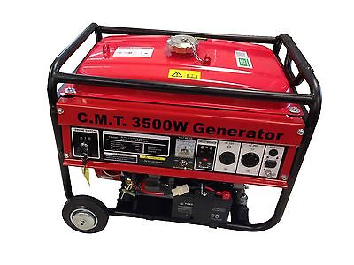 3500W 6.5HP GASOLINE GENERATOR W / WHEEL ELECTRIC START EPA
