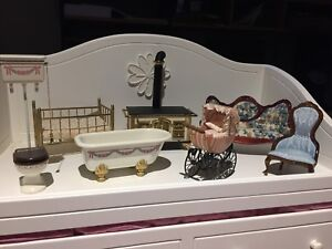 Victorian dollhouse furniture and accessories