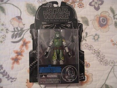 NEW SEALED STAR WARS BLACK SERIES #13 CLONE COMMANDER DOOM CARDED FIGURE