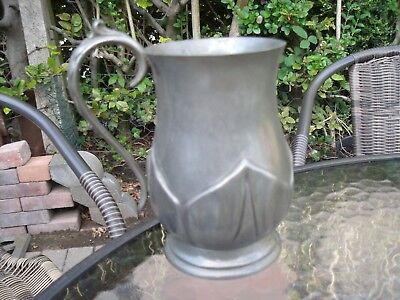 Pewter Tankard with Glass Bottom.