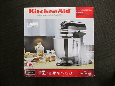 KitchenAid KSM150PSOB 5-Qt. Stand Mixer Onyx Black