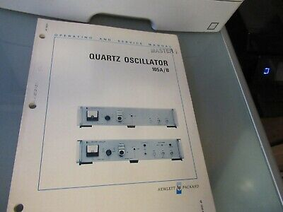 Vintage Manual Hp 105ab Quartz Oscillator Frequency Standard 1973 As Pictured
