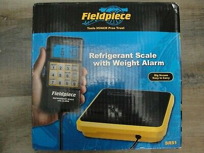 Fieldpiece Srs1 Refrigerant Scale With Padded Case And Wgt Alarm 0-110 Lbs - New