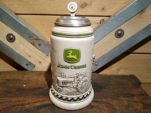 Vintage John Deere Collectable Beer Stein w/ Metal Lid 53071 - Swanky Barn