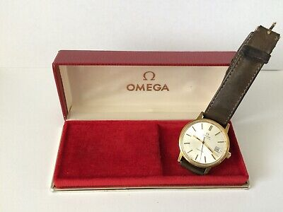 Omega Geneve Automatic Watch Gold Plated case 35mm In Original Box 1975
