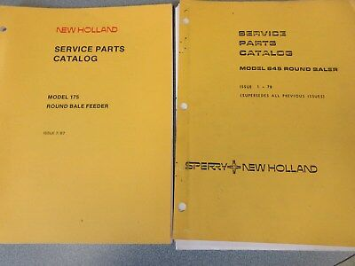 New Holland 845 Round Baler 175 Round Bale Feeder Manuals