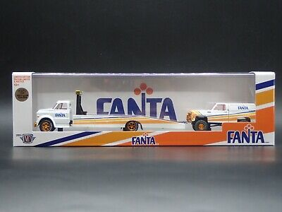 2021 M2 MACHINES AUTO HAULER 1968 C60 RAMP & 1973 TRUCK FANTA CHASE 1/750 TW09