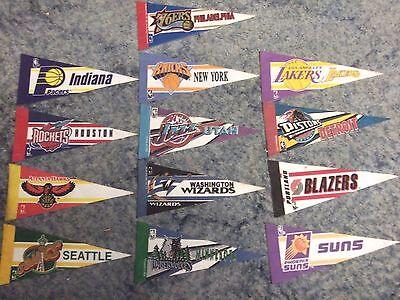 Lot of 13 NBA Mini pennants