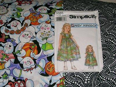 DAISY KINGDOM Little Girl Dress Pack: Vintage Halloween Gouls 5 1/2 yards](Halloween 5 Little Girl)