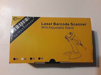 E Sky Handheld Usb Laser Automatic 1d Barcode Scanner With Adjustable Stand