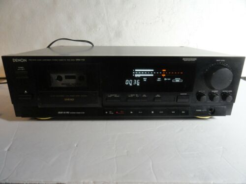 Denon DRM-700 Vintage 3 Head Stereo Cassette Tape Deck. Made in Japan! Tested.