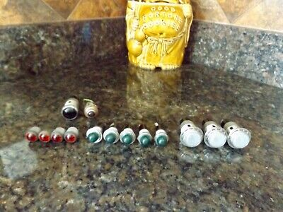 14 Vintage Bee Hive Red , Green , Clear Dialco dash panel instrument lights