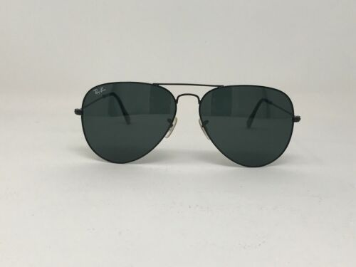RAYBAN AVIATOR 3025 BLACK ON BLACK 58 MM FAST SHIPPING