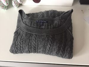 AE grey knit sweater size S