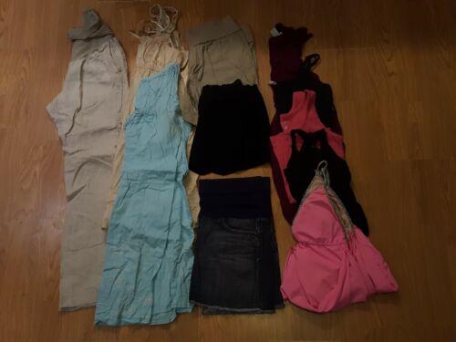Womens 9 Pc Lot Maternity Clothes Dress Pants Tank Top Skirt Motherhood Mimi M
