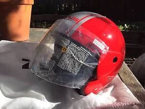 Zeus Motorcycle Helmet NEW Open face with Flip clear Visor XS Katoomba Blue Mountains Preview