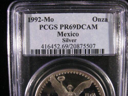 1992 MEXICO LIBERTAD PCGS PROOF 69 DEEP CAMEO