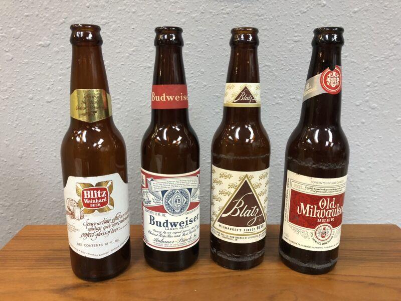 Vintage Beer Bottles-blitz, Blatz, Busweiser