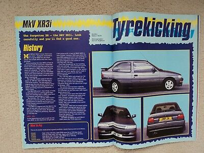 Ford Escort XR3i - Buyers guide + (Escort Cosworth Poster) - (Fast Ford) - 1997