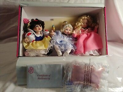 DISNEY TINY TOT TRIO BY MARIE OSMOND SNOW WHITE CINDERELLA SLEEPING BEAUTY
