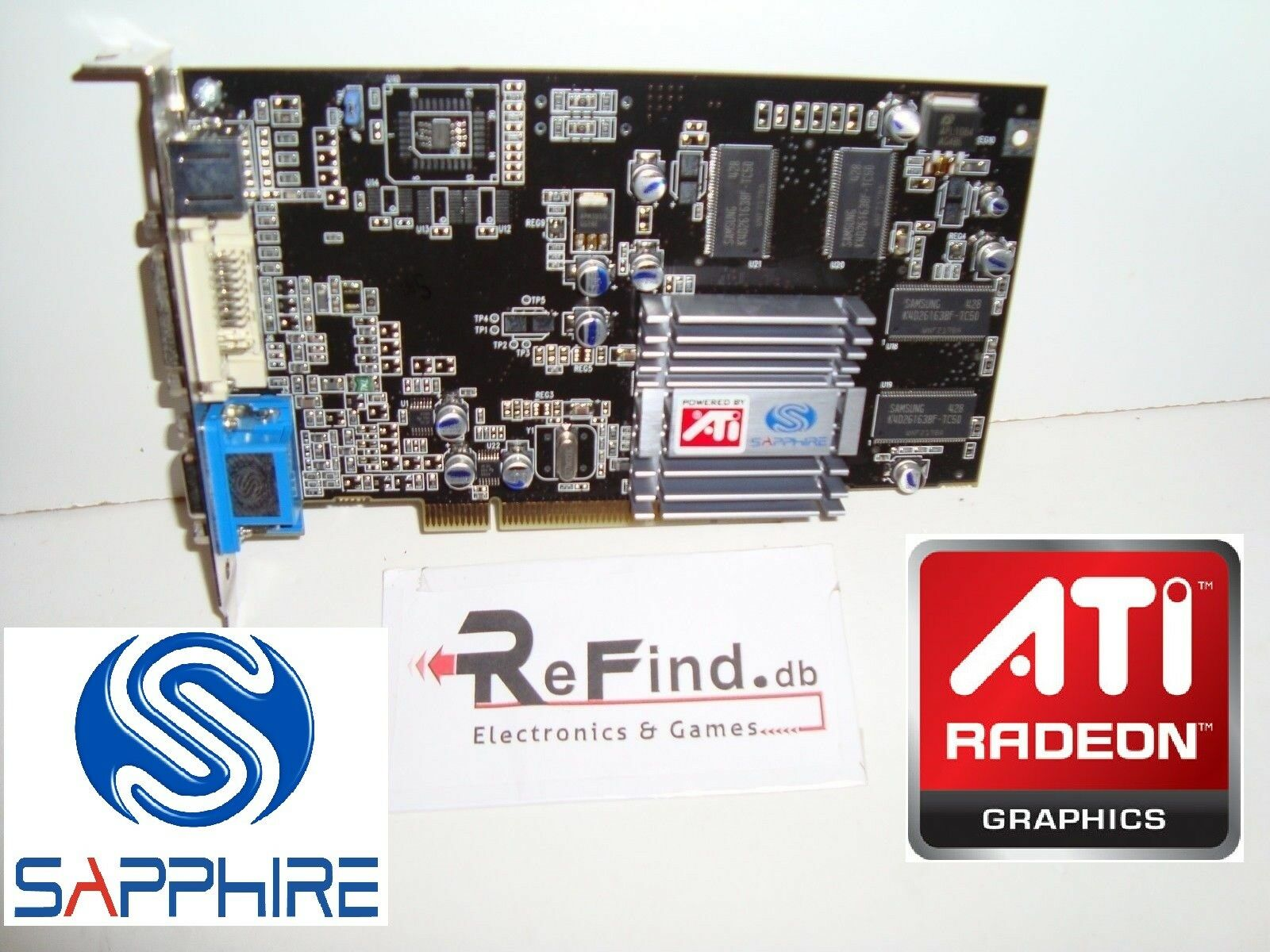 SCHEDA VIDEO GRAFICA PCI ATI RADEON SAPPHIRE 7000 64MB DDR VGA APPLE MAC G4 G5