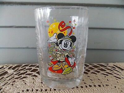 Vintage McDonald's 2000 Disney World Animal Kingdom Square Glass Tumbler Mickey