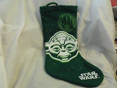 Star Wars Christmas Stocking, Yoda, Felt Applique and Embroidery, No Tags