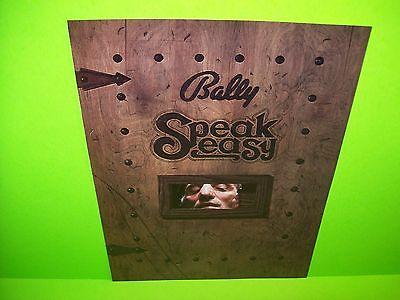 Bally SPEAKEASY 1982Original NOS Flipper Game Pinball Machine Promo Sales Flyer