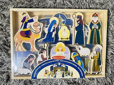 Melissa & Doug Classic Wooden Christmas Nativity Set Brand New Sealed