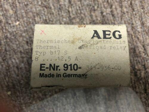 New AEG Modicon B17S Overload Relay 8-12.5 Amp E-Nr910-341