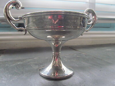 FINE ANTIQUE SOLID SILVER TAZZA / COMPORT HALLMARKED BIRMINGHAM 153g