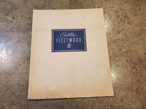 RARE 1938 Original Portfolio Sales Brochure CADILLAC FLEETWOOD Printed 1937