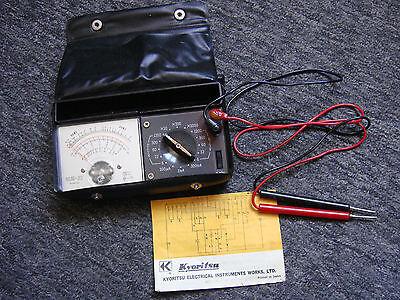 Kyoritsu Kew 22 Analogue Voltmeterammeterohmmeterdecibel With Case Manual