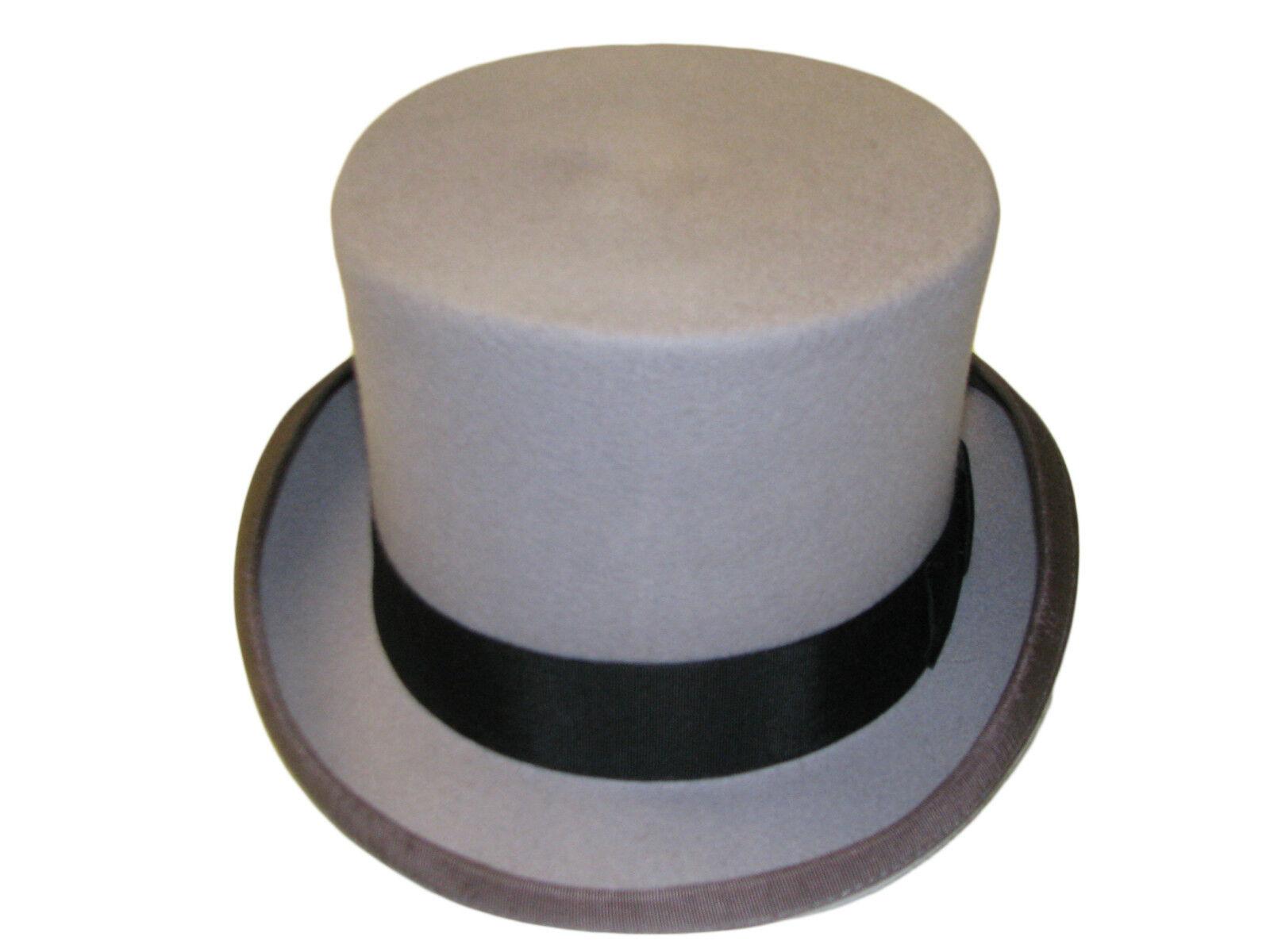 VIZ-UK WEAR Negro 100/% Lana Hecho a Mano 6/Alta Boda Event Sombrero de Copa by