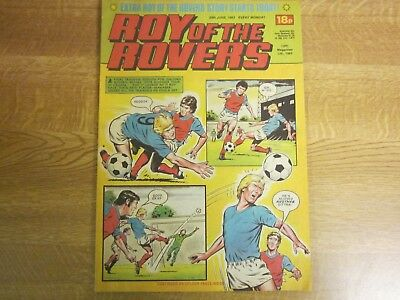 June 1983, ROY OF THE ROVERS, David Newman, Raddy Avramovic, Alvin Martin.