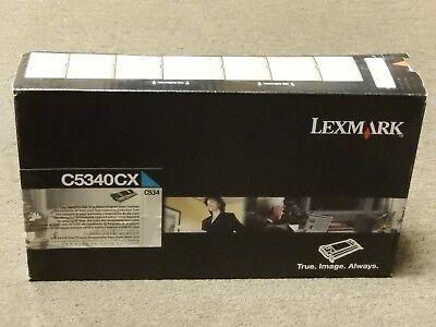 - Lexmark C5340CX Cyan Extra High Yield Toner Cartridge C534 Genuine New Seal Box