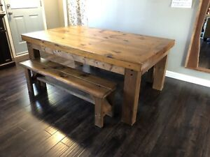 Oversize Large Rustic Farmhouse Style Dining Table